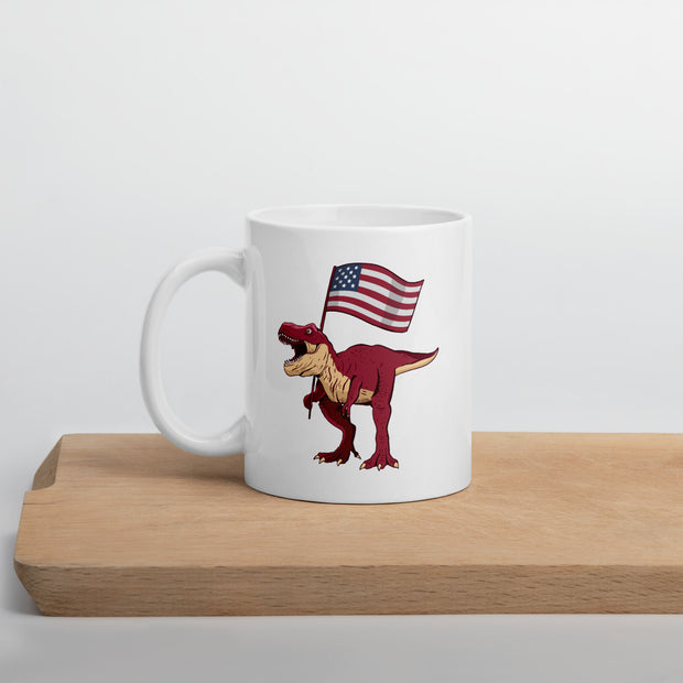 Patriotic T-Rex Mug - We Heart Dinos
