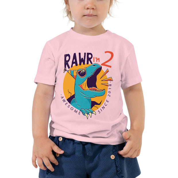 Rawr I'm 2...Awesome Since 2018- Personalizable T-Shirt - WeHeartDinos