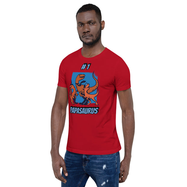 #1 Papasaurus -Dinosaur Dad Gift- T-Shirt - We Heart Dinos