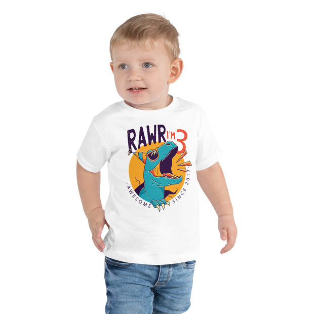 Rawr I'm 3...Awesome Since 2017 - WeHeartDinos