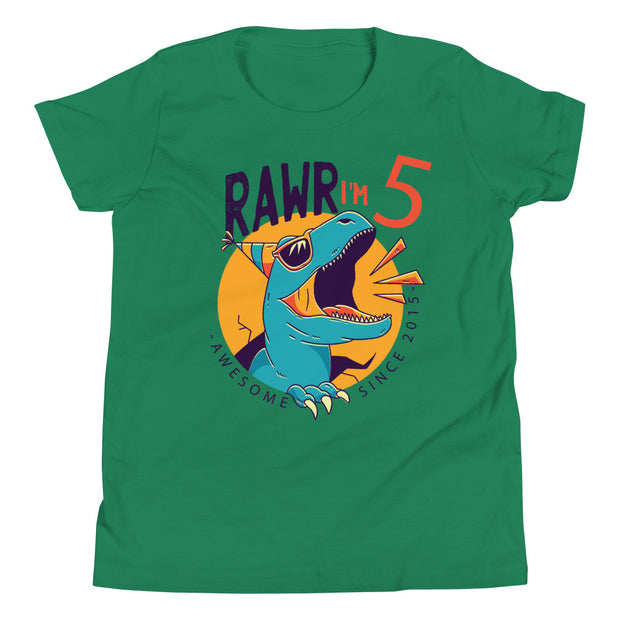 RAWR I'm 5... Awesome Since 2015- Personalizable- Youth size - WeHeartDinos