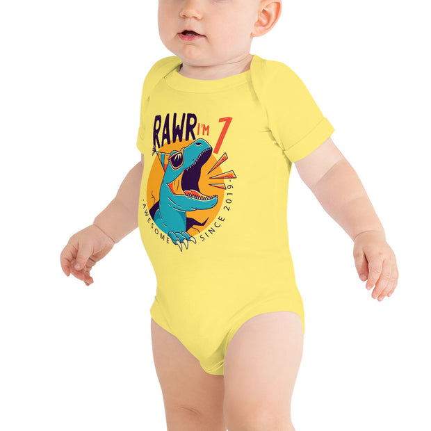 Rawr I'm 1...Awesome Since 2019- Personalized - WeHeartDinos