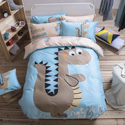 Cartoon Dinosaurs Duvet Cover Bed Set - We Heart Dinos