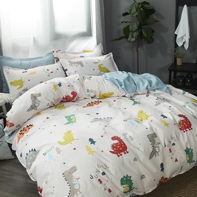 Dinosaur White - 4pc Bed Set - WeHeartDinos
