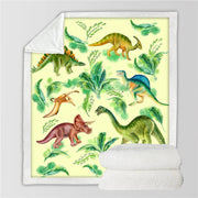 Printed Dinosaur Sherpa Throw Blanket - WeHeartDinos