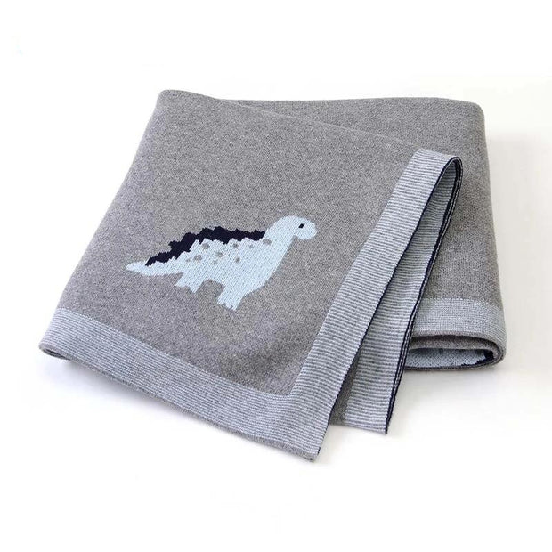 Dinosaur Knitted Baby Blanket - We Heart Dinos