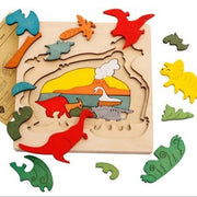 Wooden Multi-Dimensional Puzzle- Dinosaur - We Heart Dinos
