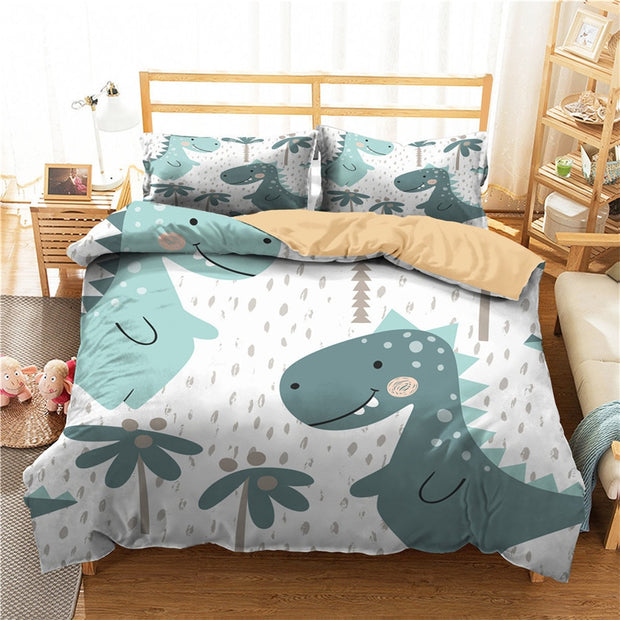 Dinosaur Bedding Printed Duvet Cover and pillow cases - We Heart Dinos