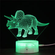 LED 3D Triceratops Nightlight - We Heart Dinos