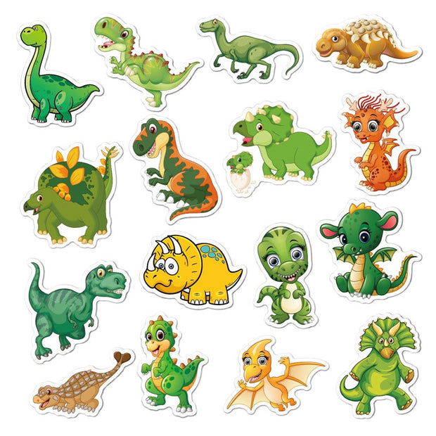 50pcs Cartoon Dinosaur Stickers - We Heart Dinos