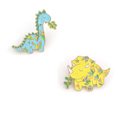 Dinosaur Metal Enamel Pins - We Heart Dinos