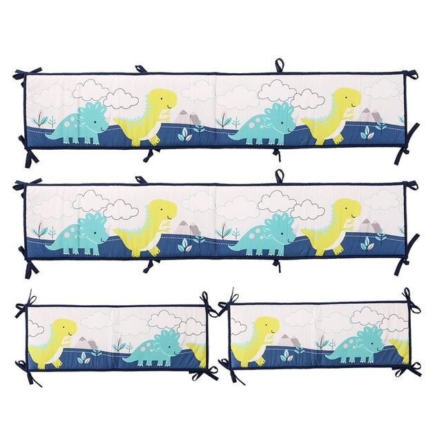 8PCS Dinosaur Crib set (4 pcs bumper+duvet+bed cover+bed skirt+blanket) - We Heart Dinos