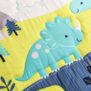 8PCS Dinosaur Crib set (4 pcs bumper+duvet+bed cover+bed skirt+blanket) - WeHeartDinos