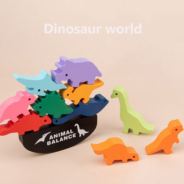 Dinosaur Balance Blocks - We Heart Dinos