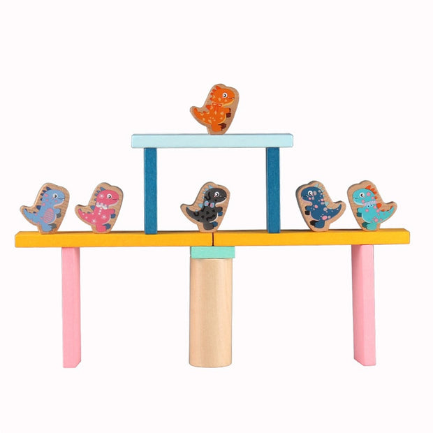 Wooden balance blocks (dinosaur) - We Heart Dinos