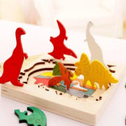 Wooden Multi-Dimensional Puzzle- Dinosaur - WeHeartDinos
