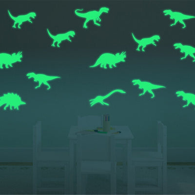 9Pcs Glow In The Dark Dinosaurs Wall Decal - WeHeartDinos