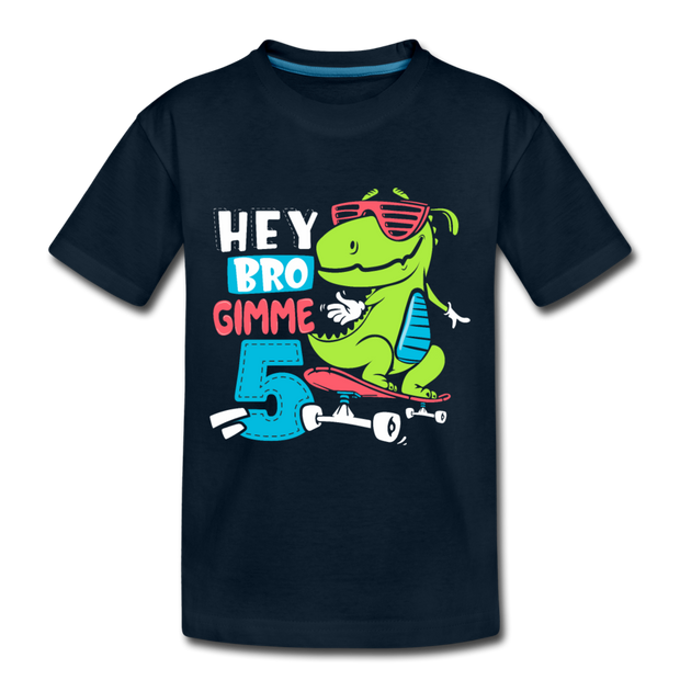 Hey Bro Gimme 5- Dinosaur Toddler T-shirt - We Heart Dinos