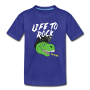 Life to Rock- Dinosaur Kids' T-Shirt - We Heart Dinos