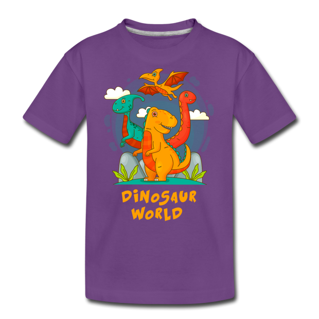 Dinosaur World- Kids' T-Shirt - We Heart Dinos