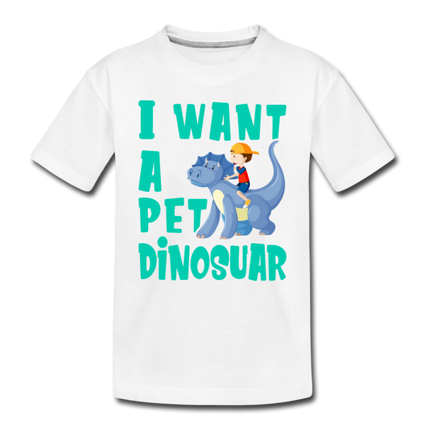 I Want A Pet Dinosaur- Toddler T-Shirt - We Heart Dinos
