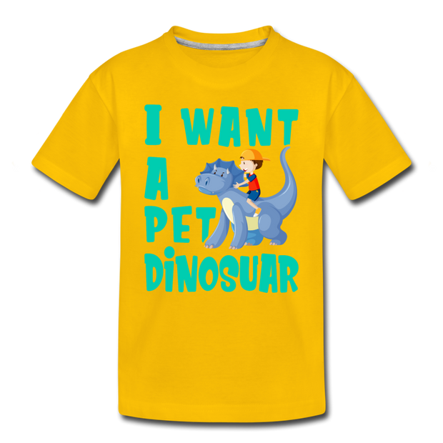 I Want A Pet Dinosaur- Toddler T-Shirt - WeHeartDinos