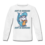 Suspicious Rabbit- Dinosaur Kids' T-Shirt - We Heart Dinos