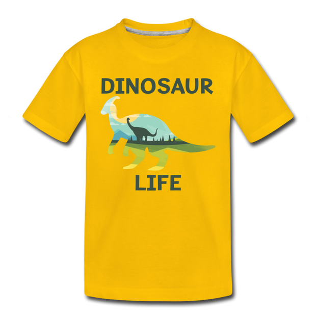 Dinosaur Life (Parasaurolophus)-  Toddler T-Shirt - We Heart Dinos