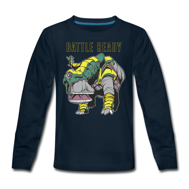 Battle Ready Nigersaurus- Kids T-Shirt - We Heart Dinos