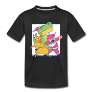 Dancing for Christmas- Toddler T-Shirt - We Heart Dinos