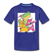 Dabbing Santa- Kids' T-Shirt - We Heart Dinos