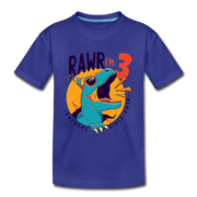 RAWR I'm 3...- Birthday T-Shirt - royal blue