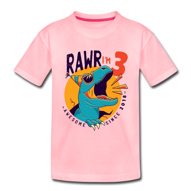 RAWR I'm 3...- Birthday T-Shirt - pink