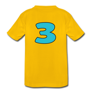 RAWR I'm 3...- Birthday T-Shirt - sun yellow