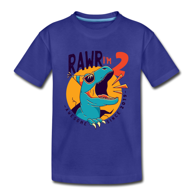 RAWR I'm 2...- Birthday T-Shirt - royal blue