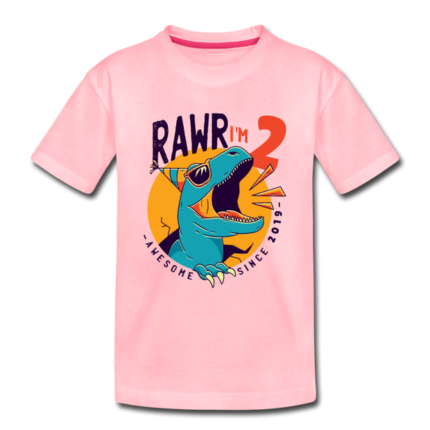 RAWR I'm 2...- Birthday T-Shirt - pink