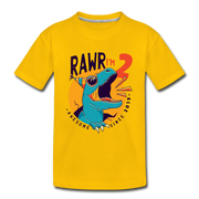 RAWR I'm 2...- Birthday T-Shirt - sun yellow