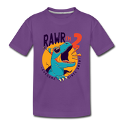 RAWR I'm 2...- Birthday T-Shirt - purple