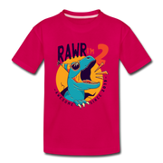 RAWR I'm 2...- Birthday T-Shirt - dark pink