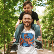Daddy's Home Dinosaur T-shirt- Short-Sleeve - We Heart Dinos