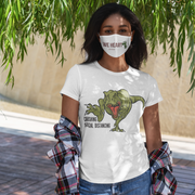Crushing Social Distancing- dinosaur t-shirt - We Heart Dinos