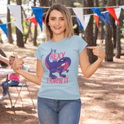 I'm Rexy and I Know It- Women's Softstyle Tee - WeHeartDinos