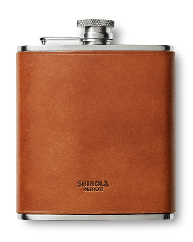 Shinola leather flask