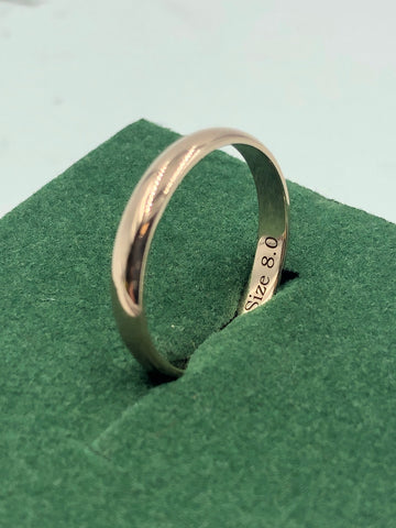 Sample band with engraving