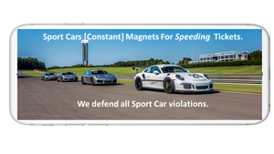 SPORT CAR SPEEDING TICKET MAGNET TARGETS