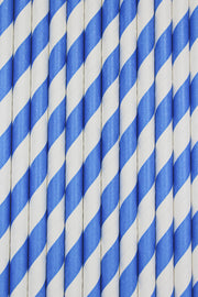Blue and White Candy Cane Stripe Stirring Straws