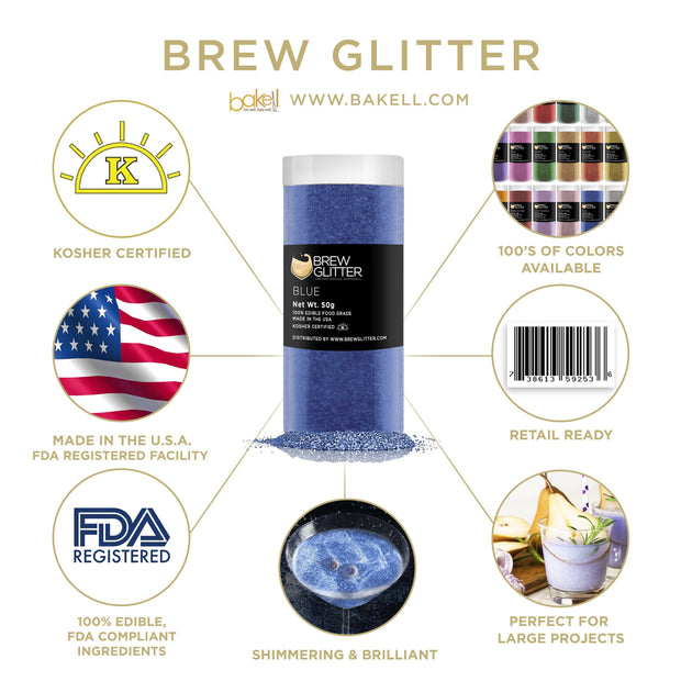 Blue Brew Glitter | Food Grade Beverage Glitter
