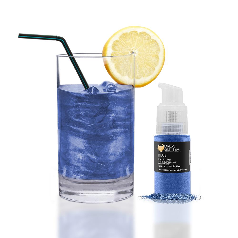 Blue Edible Glitter Spray Pump for Drinks