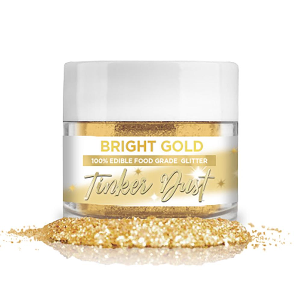 Bright Gold Edible Glitter Tinker Dust | 5 Gram Jar