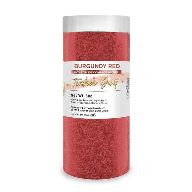 Burgundy Red Tinker Dust Edible Glitter | Food Grade Glitter